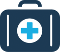 Briefcase with Medical Cross Icon