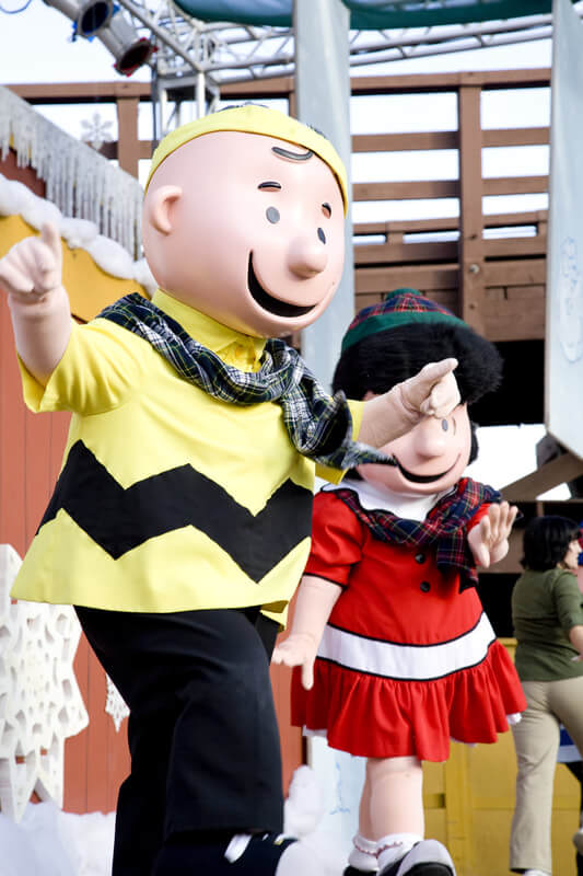 Charlie Brown and Lucy from Peanuts Comic Costumed Characters